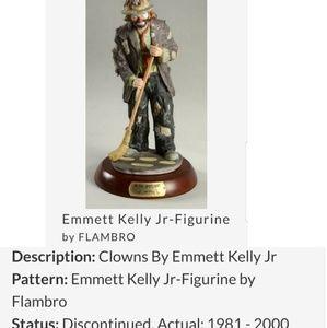 Emmett Kelly Jr Porcelain Figurine Sweeping Up
